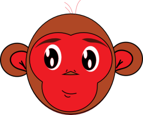 clipart-red-monkey-512x512-58d4