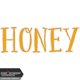 honey-word-art-03-graphic-wordart-text-element-yellow